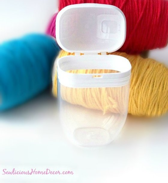 tictac flip top container Sew Organized Recycled Tic Tac Containers to Yarn Containers