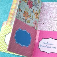 Easy Pocket Folder Organizer Tutorial + Giveaway