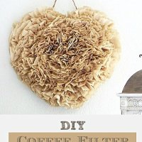DIY Coffee Filter Wreath tutorial at sewlicioushomedecor.com