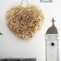 DIY Coffee Filter Wreath Tutorial