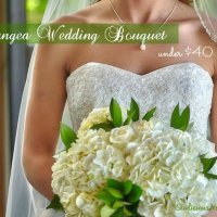 Beautiful Hydrangea DIY Wedding Bouquet for less than $40