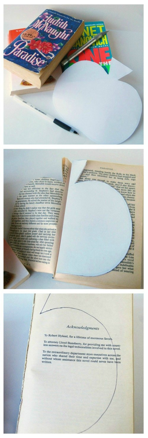DIY Book Page Pumpkin Tutorial