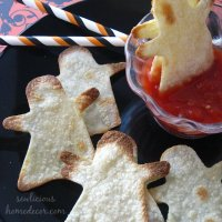 Ghost Chips and Dip Halloween Appetizers