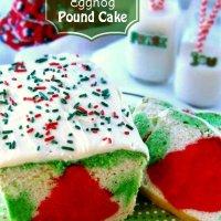 Christmas Eggnog Pound Cake