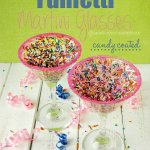How To Make Funfetti Candy Coated Martini Glasses Party Decorations