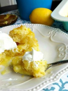Lemon Pudding Cobbler Dessert Recipe