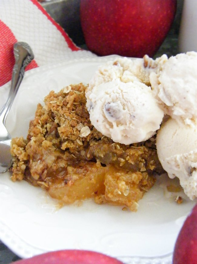 Best Homemade Apple Cobbler with Buttered Pecan Ice Cream