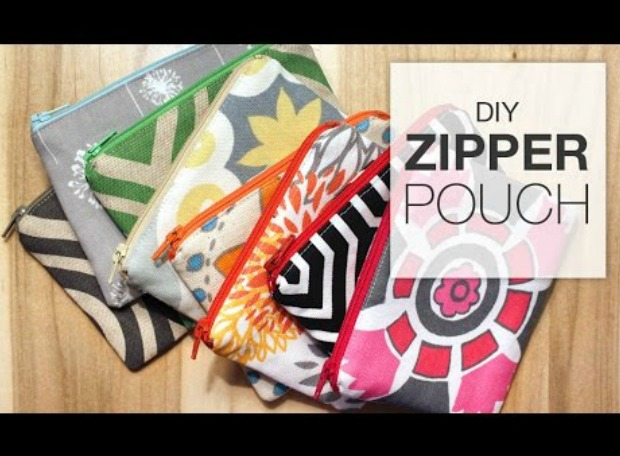Great video tutorial on how to make a zipper pouch. Perfect for those beginner sewers and anyone still worried about tackling a zip.