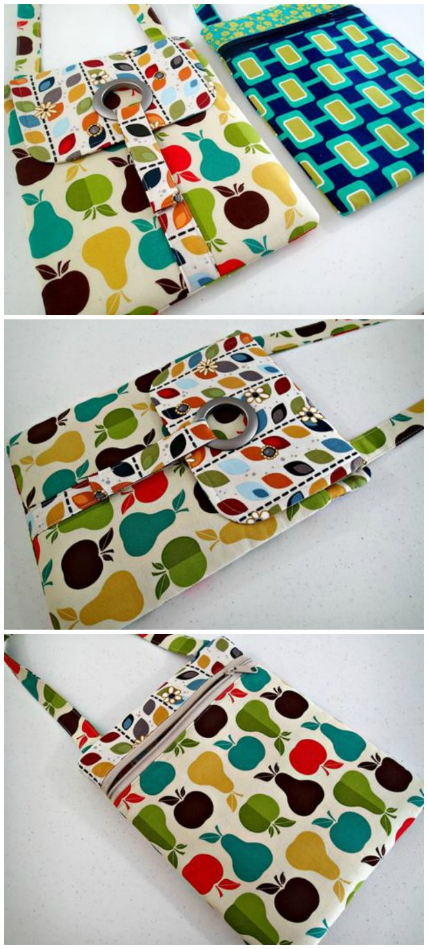 The perfect tablet bag/case sewing pattern? I think so. Not only does it come with a step by step video for how to make it, but the zipper technique will blow your mind and the construction just seems too easy to work - until you realize it already has!
