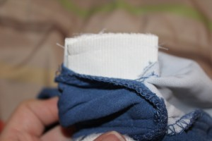 Trim elastic close to the seam
