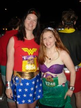 2012 Disney Princess Half Marathon - Ariel and Wonder Woman