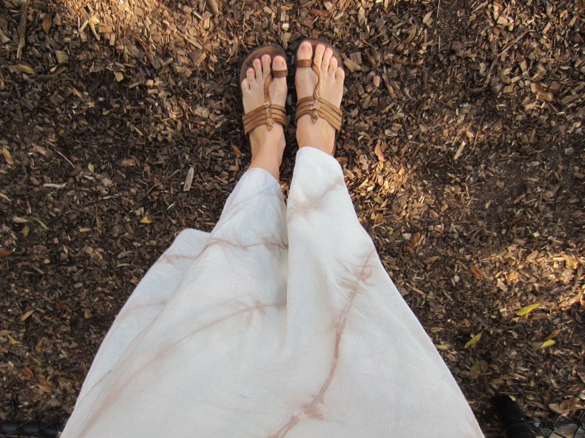 Naturally Dyed Flared Wave Skirt