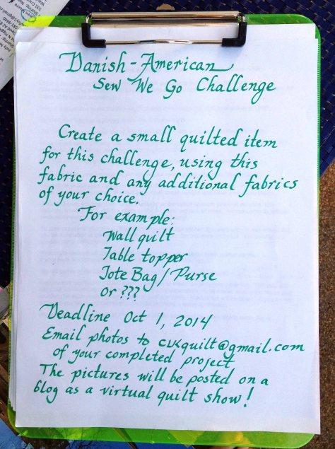Danish - American Quilt Challenge