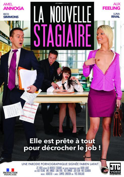La Nouvelle Stagiaire, The New Trainee, 2017 Porn Movie, Jacquie et Michel, Fabien Lafait, Alix Feeling, Amel Annoga, Luna Rival, Adult DVD, 18+ Teens, French, Blonde, Brunette, Small Tits