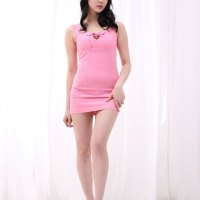 Yeon Da Bin Pink Mini Dress
