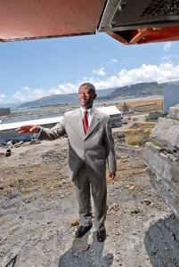 "This photo of Lennar Regional Vice President Kofi Bonner decrying Proposition F's mandate that half of any new homes Lennar builds be affordable was published in the San Francisco Business Times on May 30, 2008, four days before the June 3 election. The caption reads: ""Bonner will recommend Lennar drop the Hunters Point project if Prop. F passes."" Lennar spent $5 million to overcome Prop F's initial large lead and defeat it, despite the urgent need for affordable housing and the San Francisco General Plan's 64 percent affordable housing goal. Does a company that prioritizes exorbitant profit over people's needs – while poisoning its neighbors with toxic dust – deserve federal stimulus funds? – Photo: Spencer Brown, SF Business Times"