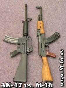 AK-47, M-16