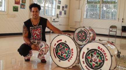 Abel Damesceno, drums of Batala
