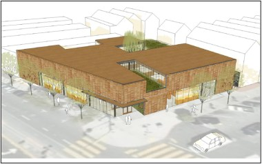 Bayview Library architect's rendering, full view, web