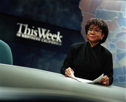 Belva Davis, host of This Week in Northern California, by Paul Trapani, KQED