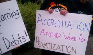 City College protest main campus &#039;Accreditation another word for Privatization&#039; 011113 by PNN
