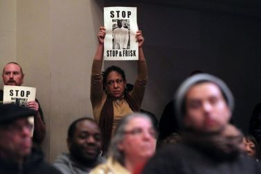Hundreds oppose 'supercop' Bill Bratton, stop and frisk Oakland City Council Public Safety Cmte 011513 by Lance Iverson,