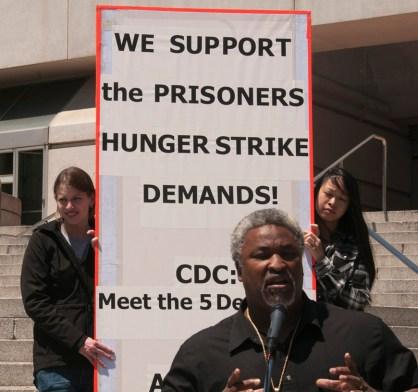 Hunger strike solidarity rally Jerry Elster speaks 080111 by Felix Barrett, Revolution