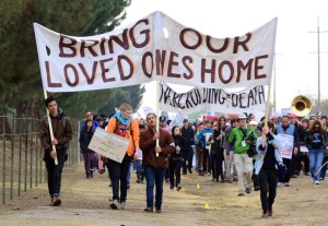 Chowchilla Freedom Rally march 'Bring our loved ones home' 'Overcrowding = death' 012613 by Bill Hackwell