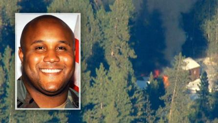 Christopher Dorner, burning cabin 021213 by CBS News