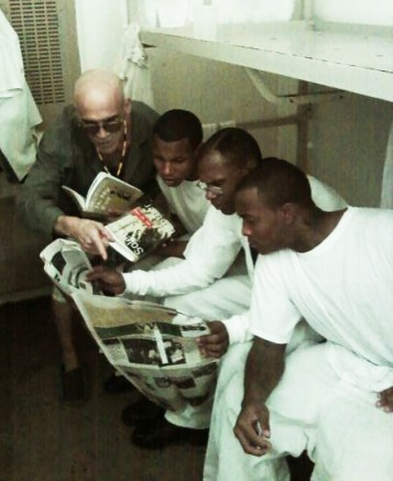 Georgia prisoners reading SFBV- Israel Espinoza, Jamelle Tatum, Eugene Thomas, Quayshaun Adams 012611 by Robert Broughto