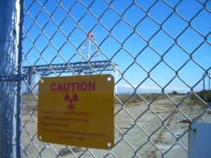 Hunters Point Shipyard &#039;Radiologically Controlled Area&#039; sign
