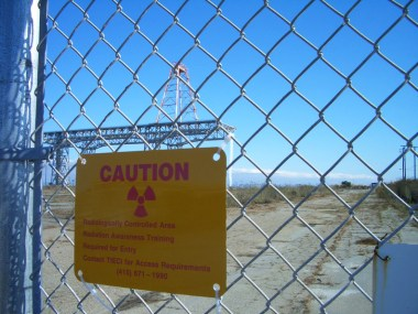 Hunters Point Shipyard 'Radiologically Controlled Area' sign
