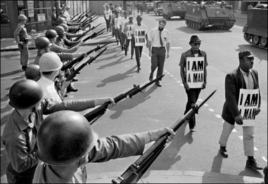 I am a man, guns, tanks Memphis 1968 by Bettmann-CORBIS