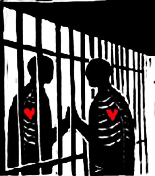 Love through prison bars