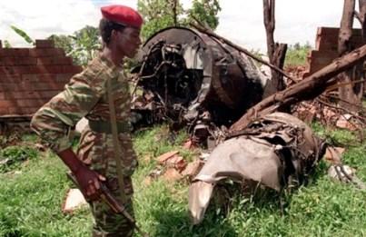 RWANDA PRESIDENTS CRASH