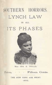 'Southern Horrors Lynch Law in All Its Phases' by Ida B. Wells cover