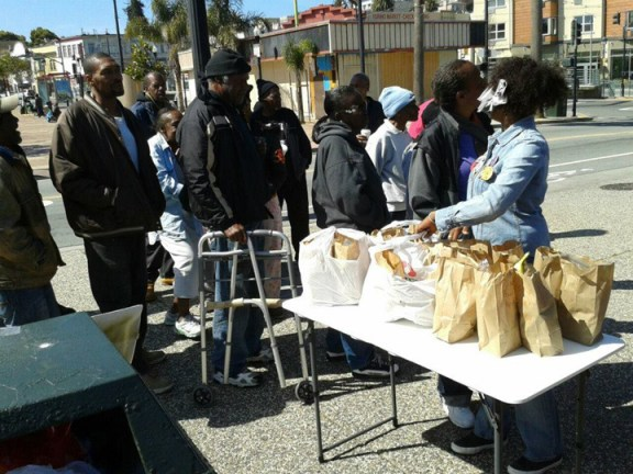 Community Feed at Kenny's Korner- most witnessed Kenneth Harding's murder, Denika says 031713