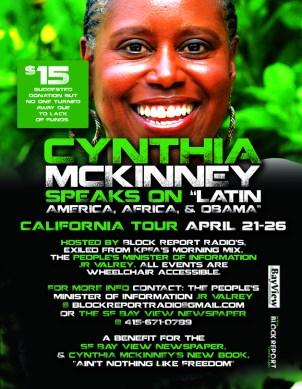 Cynthia McKinney Tour 0413- front, web