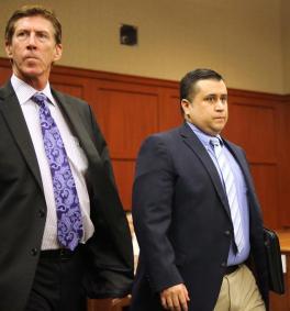 George Zimmerman, Trayvon Martin's vigilante murderer, his atty Mark O'Mara by Joe Burbank, Orlando Sentinel-AP