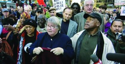 Pam Africa, Lynne Stewart, Ralph Poynter march