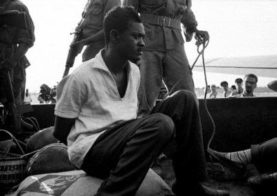 Patrice Lumumba, last photo, on truck from Elizabethville mid-Dec. 1960 by Horst Faas, AP
