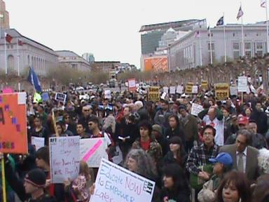 Save City College rally City Hall 031413 by PNN