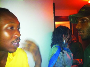 Seun Kuti, Malcolm backstage at SF performance 0811, web