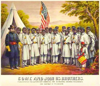 Black troops in Civil War 'Come and join us, Brothers'