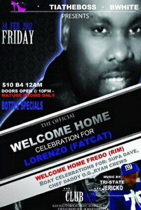 Lorenzo Johnson welcome home party 022412 poster