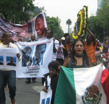 Malcolm Shabazz assassination protest El Angel Mexico City 060913-1