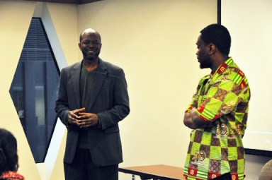 Maurice Carney, Kambale Musavuli of Friends of the Congo speak to United Steelworkers 020813
