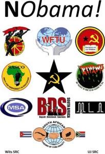 NObama Coalition Johannesburg member organizations' logos