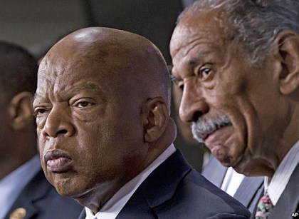 Reps. John Lewis, John Conyers angry re Supreme Court voting rights decision 062513 by AP