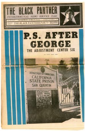 The Black Panther newspaper cover 'P.S. After George- The Adjustment Center six' (aka SQ6) 110671